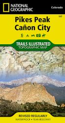 Buy map Pikes Peak and Canon City, Colorado, Map 137 by National Geographic Maps from Colorado Maps Store