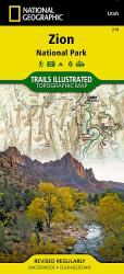 Buy map Zion National Park, Map 214 by National Geographic Maps