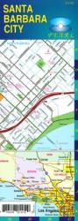 Buy map Santa Barbara and Goleta, California, Pearl Map, laminated by GM Johnson
