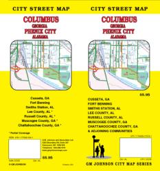 Buy map Columbus, Georgia and Phenix City, Alabama by GM Johnson
