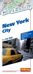 Buy map New York City, NY City Flash Map by Hallwag from New York Maps Store
