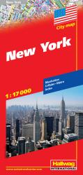 Buy map New York City, NY by Hallwag from New York Maps Store