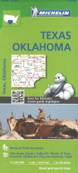 Buy map Texas and Oklahoma (176) by Michelin Maps and Guides from United States Maps Store