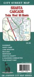 Buy map Shasta Cascade, Yreka, Weed and Shasta City, California by GM Johnson from California Maps Store