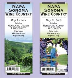 Buy map Napa and Sonoma, California, Wine Country by GM Johnson from California Maps Store