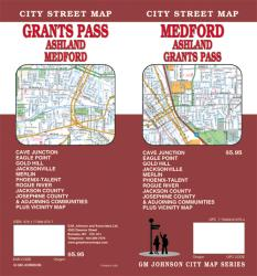 Buy map Medford, Ashland and Grants Pass, Oregon by GM Johnson from Oregon Maps Store