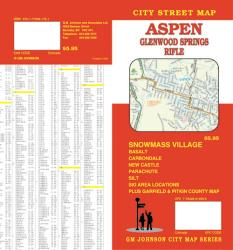 Buy map Aspen, Glenwood Springs and Rifle, Colorado by GM Johnson from Colorado Maps Store