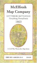 Buy map Gettysburg Battlefield by McElfresh Map Co.
