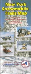 Buy map New York, Snowmobile Trails Map by Jimapco
