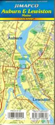 Buy map Auburn and Lewiston, Maine, Quickmap by Jimapco from Maine Maps Store