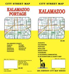 Buy map Kalamazoo, Michigan by GM Johnson from Michigan Maps Store