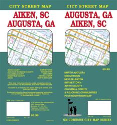 Buy map Augusta, Georgia and Aiken, South Carolina by GM Johnson from United States Maps Store