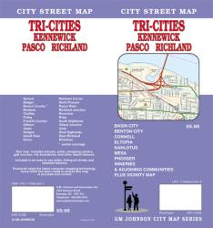 Buy map Tri-Cities Washington-Kennewick, Pasco and Richland by GM Johnson