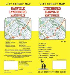 Buy map Lynchburg, Danville and Martinsville, Virginia by GM Johnson from Virginia Maps Store