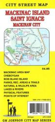 Buy map Mackinac Island, Saint Ignace and Mackinaw City, Michigan by GM Johnson from Michigan Maps Store