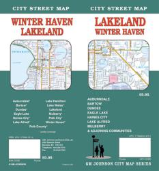 Buy map Lakeland and Winter Haven, Florida by GM Johnson