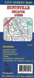 Buy map Huntsville, Decatur and Athens, Alabama by GM Johnson from Alabama Maps Store