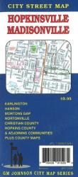 Buy map Hopkinsville and Madisonville, Kentucky by GM Johnson from Kentucky Maps Store