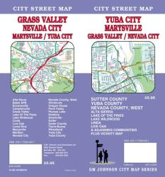 Buy map Yuba City, Marysville, Grass Valley and Nevada City, California by GM Johnson