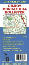 Buy map Gilroy, Morgan Hill and Hollister, California by GM Johnson from California Maps Store