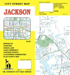 Buy map Jackson, Michigan by GM Johnson from Michigan Maps Store