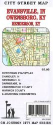 Buy map Evansville, Indiana and Owensboro and Henderson, Kentucky by GM Johnson from United States Maps Store