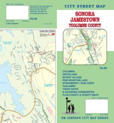 Buy map Sonora, Jamestown and Tuolumne County, California by GM Johnson from California Maps Store