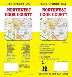 Buy map Cook County, Northwest, Illinois by GM Johnson from Illinois Maps Store