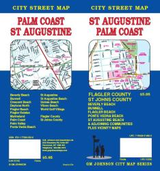 Buy map St. Augustine and Palm Coast, Florida by GM Johnson from Florida Maps Store