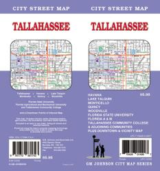 Buy map Tallahassee, Florida by GM Johnson from Florida Maps Store