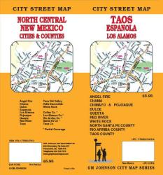 Buy map Taos, Espanola and Los Alamos, New Mexico by GM Johnson from New Mexico Maps Store