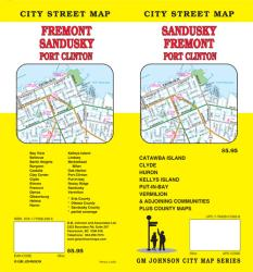 Buy map Sandusky, Fremont and Port Clinton, Ohio by GM Johnson from Ohio Maps Store