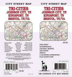 Buy map Tri-Cities Tennessee and Virginia-Johnson City, Kingsport and Bristol by GM Johnson from Tennessee Maps Store