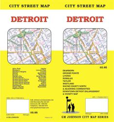 Buy map Detroit, Michigan by GM Johnson from Michigan Maps Store