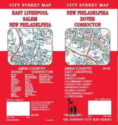 Buy map New Philadelphia, Dover and Coshocton, Ohio by GM Johnson from Ohio Maps Store