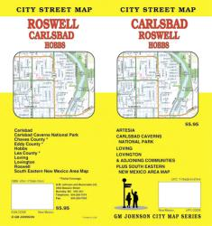 Buy map Carlsbad, Roswell and Hobbs, New Mexico by GM Johnson from New Mexico Maps Store