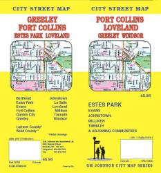 Buy map Fort Collins, Loveland, Greeley and Windsor, Colorado by GM Johnson