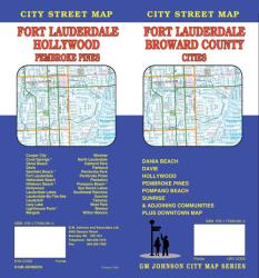 Buy map Fort Lauderdale and Broward County Cities, Florida by GM Johnson from Florida Maps Store