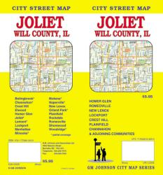 Buy map Joliet and Will County, Illinois by GM Johnson from Illinois Maps Store