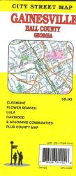 Buy map Gainesville and Hall County, Georgia by GM Johnson from Georgia Maps Store