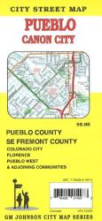 Buy map Pueblo and Canon City, Colorado by GM Johnson from Colorado Maps Store