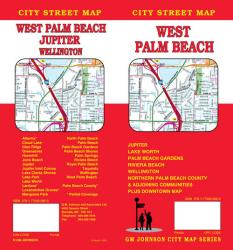 Buy map West Palm Beach, Florida by GM Johnson from Florida Maps Store