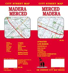 Buy map Merced and Madera, California by GM Johnson from California Maps Store