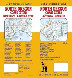 Buy map Oregon, North with Coast Cities, Astoria and Seaside by GM Johnson from Oregon Maps Store