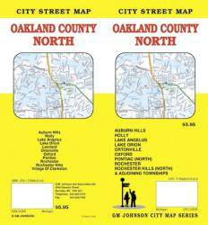 Buy map Oakland County, North, Michigan by GM Johnson from Michigan Maps Store