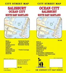 Buy map Ocean City, Salisbury and Southeast Maryland by GM Johnson in Maryland Map Store