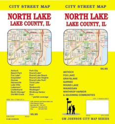 Buy map Lake County, North, Illinois by GM Johnson from Illinois Maps Store