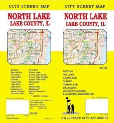 Buy map Lake County, North, Illinois by GM Johnson