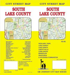 Buy map Lake County, South, Illinois by GM Johnson
