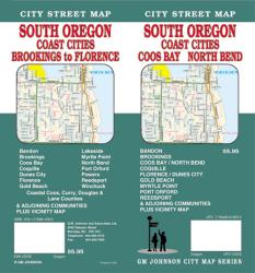 Buy map Oregon, South with Coast Cities, Coos Bay and North Bend by GM Johnson from Oregon Maps Store